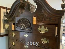 Antique Vintage Old Thomasville Mahogany SOLID Wood Wooden Dresser Chest Highboy