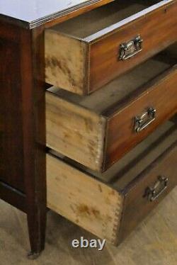 Antique vintage inlaid mahogany chest of drawers