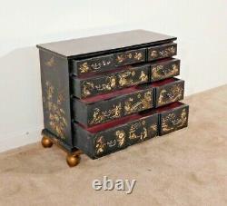 BAKER Furniture William & Mary Chinoiserie 4 Drawer Chest Dresser