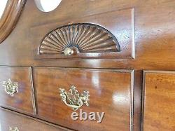 BAKER Mahogany Chippendale Style Highboy Chest 85H