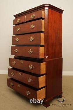Baker Chippendale Style Mahogany Tall Chest