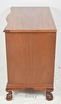 Baker Colonial Williamsburg Mahogany Serpentine Chest of Drawers Claw & Ball
