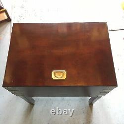 Beautiful Mahogany Silver Chest With Brass Accents Vintage Antique Style Storage