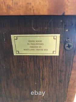 Beautiful Vtg Maitland-smith Banded Edge Flame Mahogany Claw Foot Butlers Chest