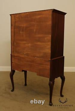 Bench Made Solid Mahogany Queen Anne Style Highboy Chest