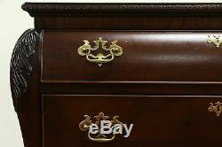Bombe Vintage Carved Mahogany Hall Chest or Dresser, Century #33084