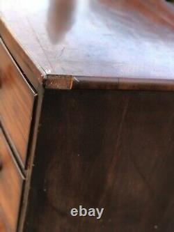 Bow Fronted Mahogany Chest Of Drawers. Splits In 2 For Easier Transportation