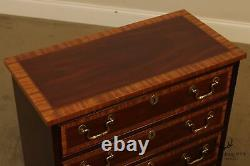 Councill Craftsmen Chippendale Style Mahogany Banded Chest of Drawers