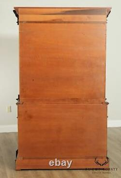 Councill Empire Style Crotch Mahogany Tall Chest on Chest