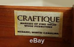 Craftique Chippendale Style Mahogany Pair 4 Drawer Chests Nightstands