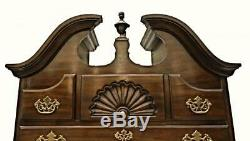 Drexel Queen Anne Style Mahogany Highboy Chest Dresser Cabinet Armoire Vintage