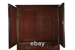 English George III Flamed Mahogany Antique Linen Press Chest of Drawers c. 1800