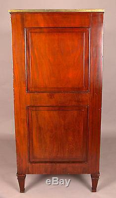 English Regency 6 Drawer Chest Dresser, Egyptian Motifs, Mahogany, 1820 Antique