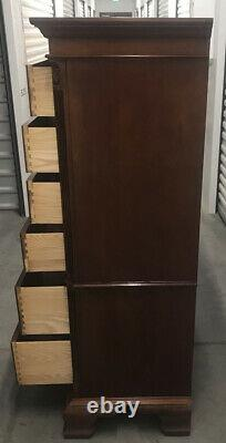Ethan Allen Dressing Chest 18th Century Mahogany 18 Drawer Dresser 22-5425
