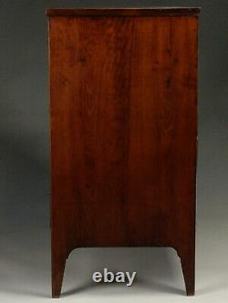 Exceptional & Beautiful Federal Cherry Tiger Maple & Mahogany Chest Of Drawers