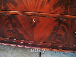 Federal Empire Antique Dresser Chest Crotch Flame Mahogany Thomas Day @1825
