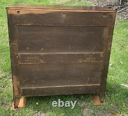 Federal Furniture Empire Flame Mahogany antique dresser chest of drawers c. 1825