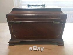 George 11 2nd Period Mahogany & Brass Tea Caddy Chest Manner of T. Landall C. 1745