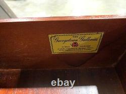 Georgetown Galleries Solid Mahogany Queen Anne Highboy Dresser Chest Bonnet Top