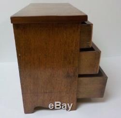 Georgian Mahogany 3-Drawer Miniature Chest Salesman Sample