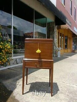 Grand Mahogany Silver Chest crafted by Henkel Harris 20thc