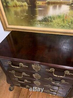 HENREDON Traditional French Rococo Mahogany Chest Of Drawers Stunning! EXC