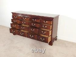 HICKORY CHAIR James River Collection 9 Drawer Flame Mahogany Long Chest