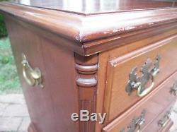 Handmade Solid Mahogany Bedside Chest Nightstand 3 drawer Chippendale Phila