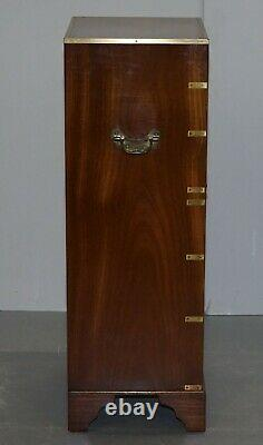 Harrods Kennedy Military Campaign Tallboy Chest Of Drawers Part Of Large Suite