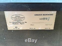 Henkel Harris Mahogany Chippendale Style 4 Drawer Bachelor Chest