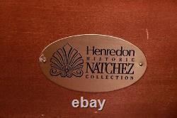 Henredon Historic Natchez Georgian Inlaid Mahogany Bow Front Chest of Drawers