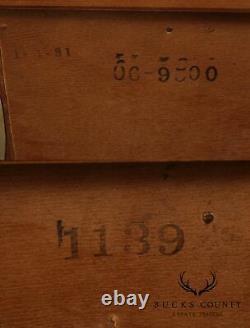 Henredon Villandry Collection Mahogany Bombe 2 Drawer Chest Nightstand