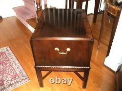 Heritage Banded Mahogany Chippendale Silver Chest