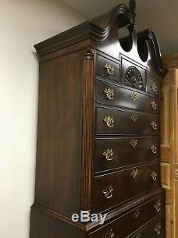 Heritage Furniture Mahogany Highboy Chest Heirloom Registered Number 551