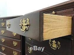 Hickory American Masterpiece Mahogany Chippendale Bedside Chests Pair