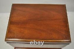 Hickory Chair Co. Mahogany & Burlwood Queen Anne Silverware Silver Chest