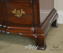 Kindel Townsend Goddard Chippendale Style Mahogany Block Front Chest