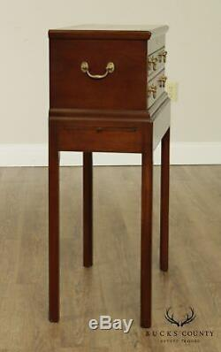Kittinger Williamsburg Adaptation Mahogany Chippendale Style Silver Chest