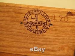 L46706EC NORRIS REPRODUCTIONS OF RICHMOND Mahogany Bachelor Chest