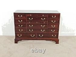 LEXINGTON Furn Co Chippendale Heirloom Collection 17-Drawer Solid Mahogany Chest
