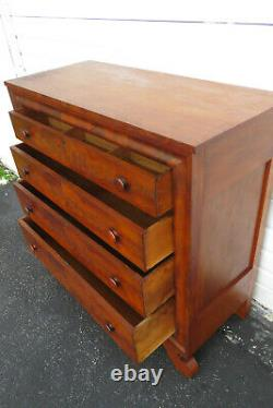 Late 1800s Empire Flame Mahogany Chest of Drawers 1303