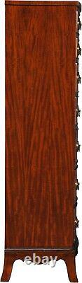Lingerie Chest Of Drawers Bowfront Graduated Tall Mahogany New Ng-9