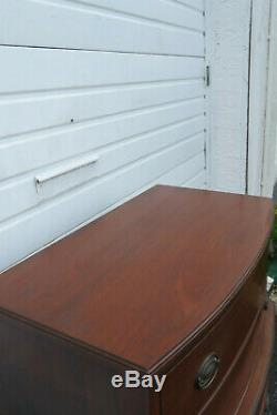 Mahogany Bow Front Chest of Drawers 1046