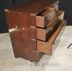Mahogany Campaign Chest of Drawers Colonial Furniture