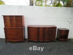 Mahogany Double Serpentine Front Tall Chest of Drawers 9659