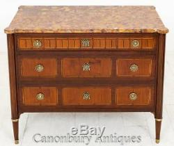 Mahogany French Empire Commode Chest of Drawers