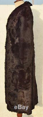 Mens Real Fur Coat Vintage Mountaingoat Mahogany Long Chest 44