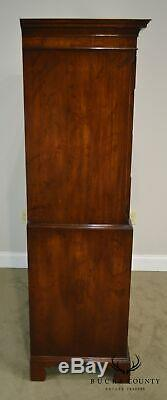 Old Colony Chippendale Style Vintage 1940's Mahogany Chest on Chest