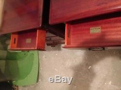 PAIR FOUR DRAWER MAHOGANY NIGHTSTANDS END TABLES CHESTS by kling SOLID MAHOGANY