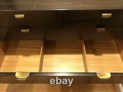 PAIR Mid Century Graduated Bachelor Chests Cabinets by Edward Wormley for Drexel